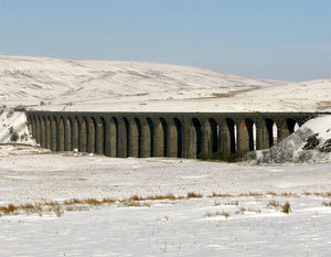 Snowy Ribblehead Viaduct